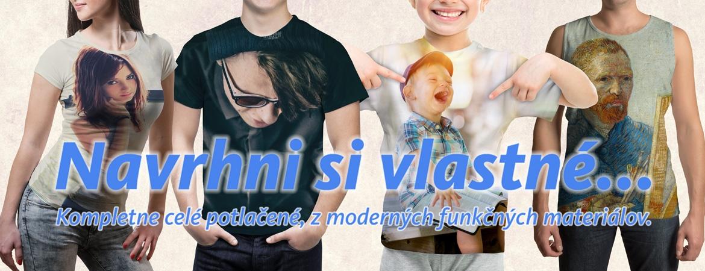 Celopotlačené tričká z vlastných motívov